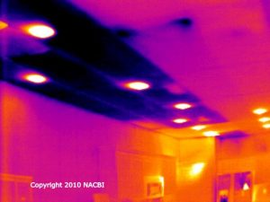 Commercial infrared insulation heat loss survey